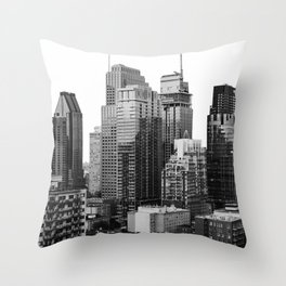 Montreal Québec, Canada City Skyline Downtown Throw Pillow