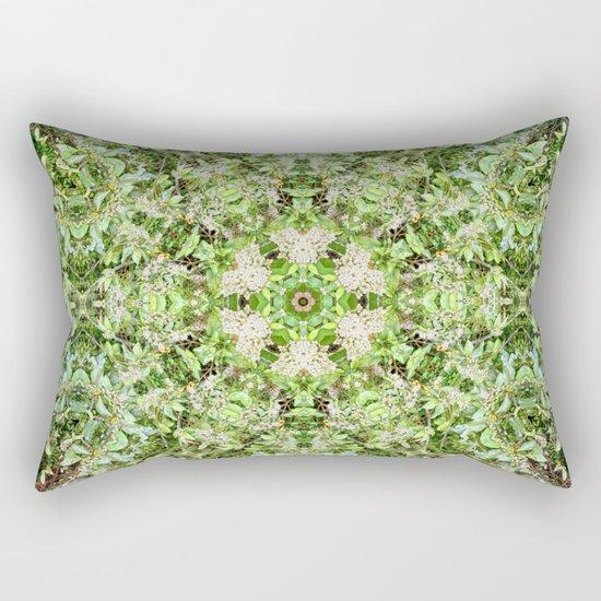 Kaleidoscope of Rainforest Flowers Rectangular Pillow