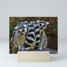 Twin Lemurs Mini Art Print