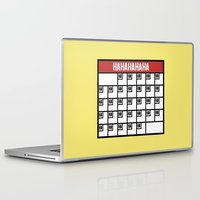 calendar Laptop & iPad Skins featuring The Laughing Calendar by Josh LaFayette