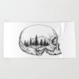SKULL/FOREST Beach Towel