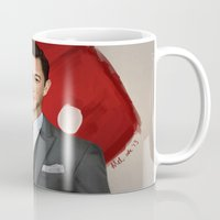 inception Mugs featuring Inception - Arthur by Mel Hampson