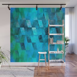 Stacked Sky (blue) Wall Mural