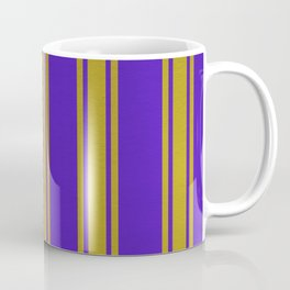 Yellow lines on a blue background Coffee Mug