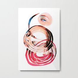 Her Mind is Lovely Metal Print