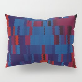 Red and Blue Digi Fractal Pillow Sham