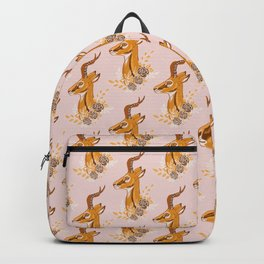 Gazelle - Autumn Pink and Yellow Backpack