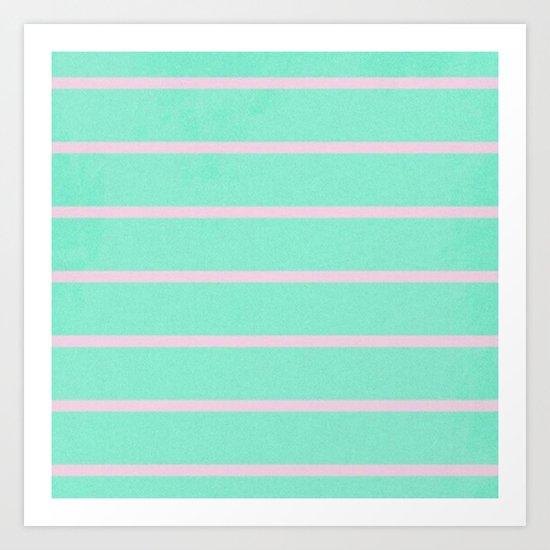 Turquoise Love Art Print