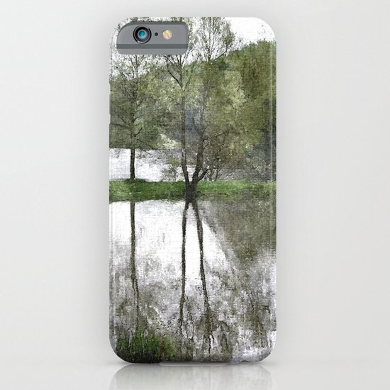 Trees by the lake iPhone & iPod Case