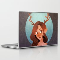 fawn Laptop & iPad Skins featuring Fawn by Lauren Draghetti
