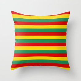 cameroon flag stripes Throw Pillow