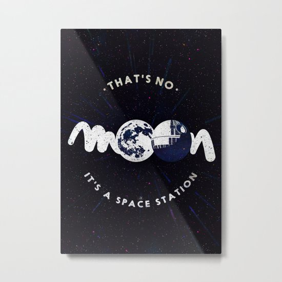 That's no moon. It's a space station v2 Metal Print
