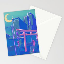 Neon Moon Stationery Cards