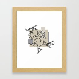 abstract illustration with geometric shapes in soft colors perfect for clothes, furniture, graphic d Framed Art Print