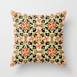 Suzani Textile Pattern Throw Pillow