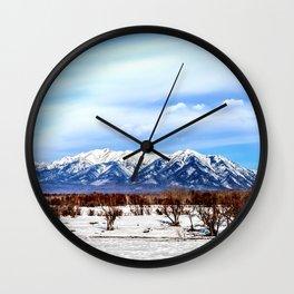 Sayan Mountains Wall Clock