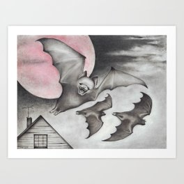 Strawberry Moon Art Print