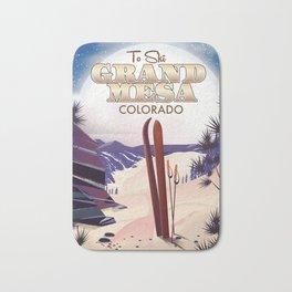 Grand Mesa ski travel poster Bath Mat
