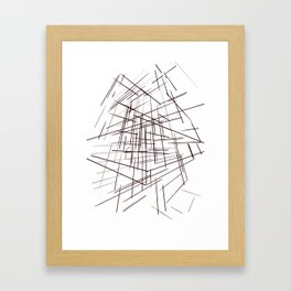 warp Framed Art Print