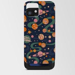 Cosmos Pattern, Blue, Orange, Green, Cosmic, Space iPhone Card Case