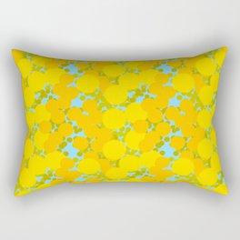 Yellow optimistic polka dot pattern Rectangular Pillow