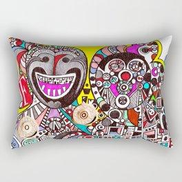Invasion of Trolls (abstract fantasy drawing) Rectangular Pillow
