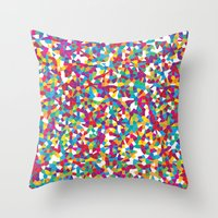 crystal Throw Pillows featuring Crystal by Simon C Page