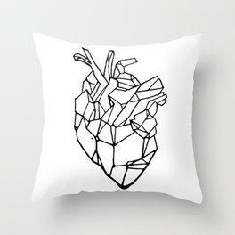 Polyhedron Heart Throw Pillow