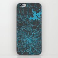 nashville iPhone & iPod Skins featuring Nashville by Map Map Maps