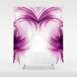abstract fractals mirrored reacdei Shower Curtain