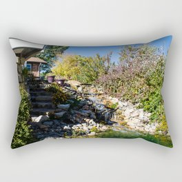 Backyard Waterfall Rectangular Pillow