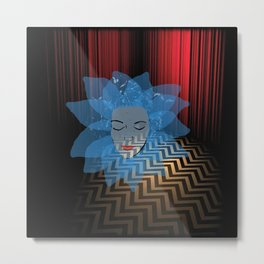 Laura Palmer Blue Rose in the Red Room Metal Print