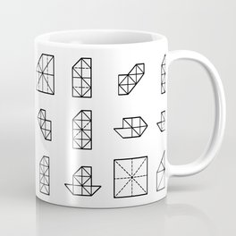 Origami Fish - Step by Step (Black) Coffee Mug