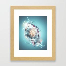 Glowing Owl Framed Art Print