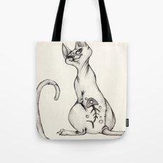 Cats with Tats v.1 Tote Bag