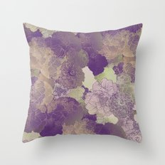 Aubergine Floral Hues Throw Pillow