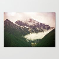 the mountains are calling Canvas Prints featuring The Mountains Are Calling by Noonday Design