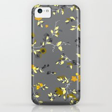 floral vines - greys, mustards & greens iPhone 5c Slim Case
