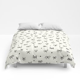 Cute pattern with hand- drawn bows Comforters