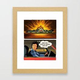 DALLAS – Bobby's Secret Framed Art Print