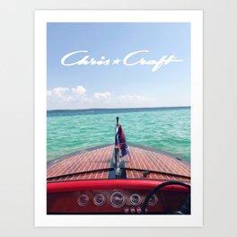 Chris Craft Boat Art Print