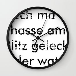 have you licked the lightning gift schw Wall Clock