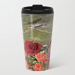 Life is a Bed of Roses Metal Travel Mug