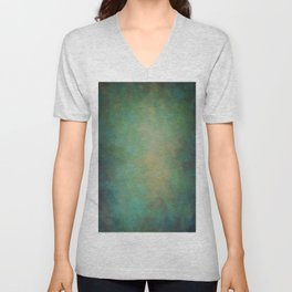 Abstract Soft Watercolor Gradient Ombre Blend 4 Yellow Blue and Green Unisex V-Neck