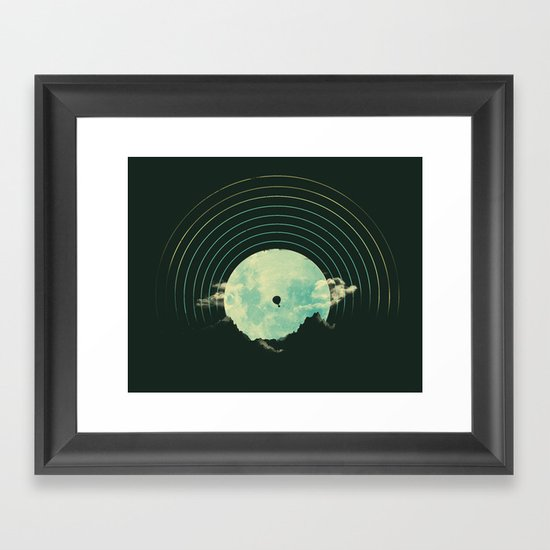 Soundtrack to a Peaceful Night Framed Art Print