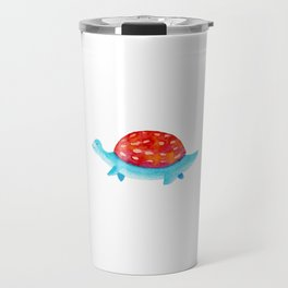 Red and blue dino   watercolor children illustration Travel Mug