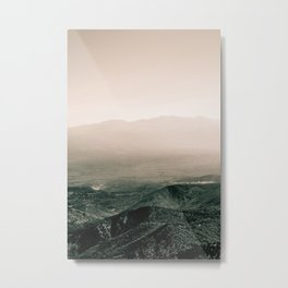 blushed mountains Metal Print