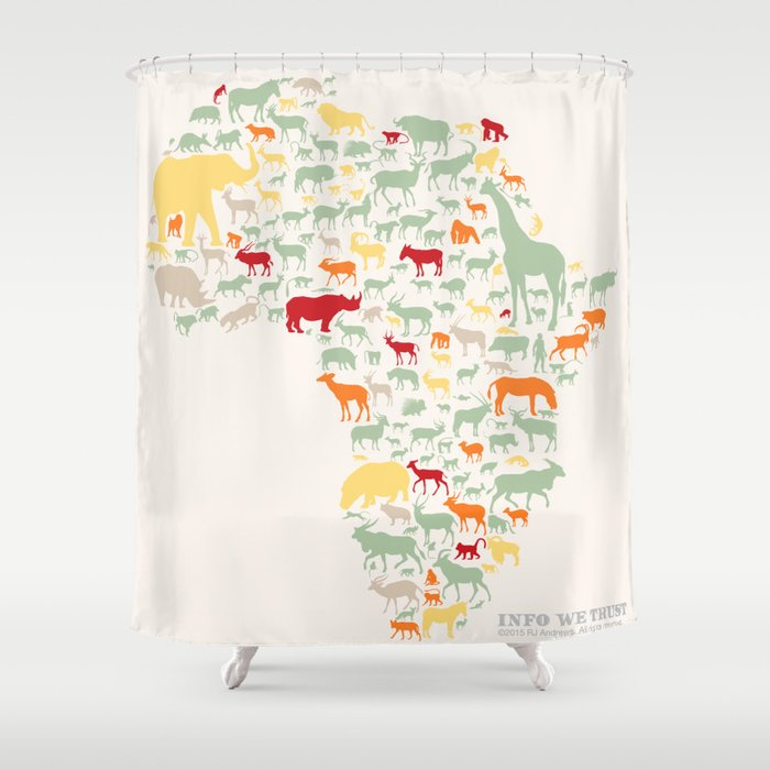 Endangered Safari - without animal names Shower Curtain