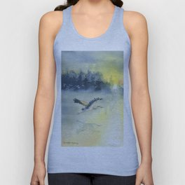 Flying Home - Great Blue Heron Unisex Tank Top