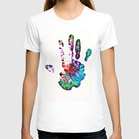 hippie T-shirts featuring Hippie Hand by Alyssa Barclay